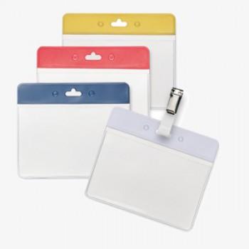 7040BK - Transparante badges